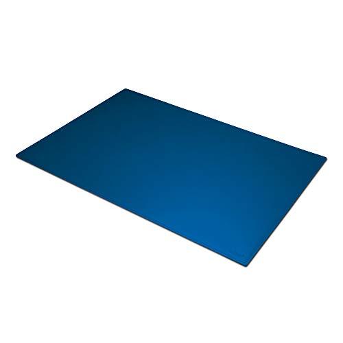 Eglooh - Mercurio Posh - Protector Mesa Escritorio de Oficina en Cuero Azul Eléctrico cm 90x60 - Alfombrilla Raton xxl con Costuras Hechas a mano y Fondo Antideslizante - Hecho en Italia