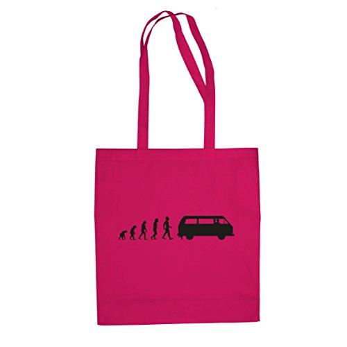 Bulli T3 Evolution - Stofftasche / Beutel, Farbe: pink