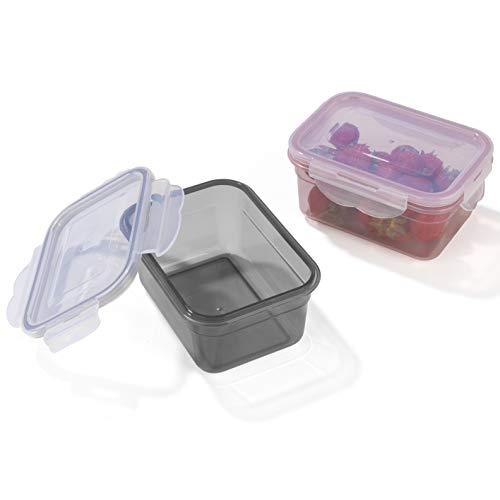14 K/ästen mit Deckel GOURMETmaxx Frischhaltedosen Klick-it,Geeignet f/ür Mikrowelle Gefrierschrank und Sp/ülmaschine Flieder