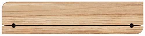 Natuhr Schlüsselbrett Ablage Holz Eiche Schlüsselhalter Schlüsselleiste (Eiche unbehandelt)