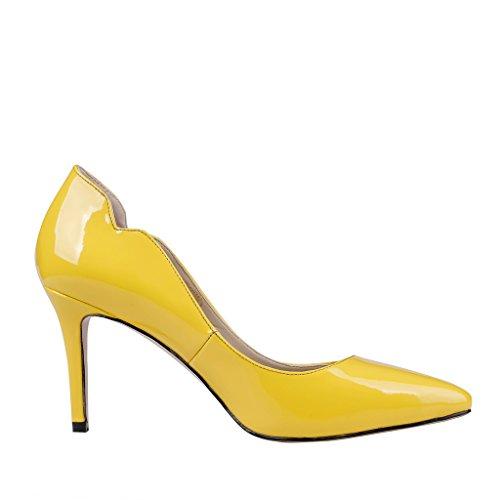 MERUMOTE - Tacco a spillo Donna Giallo (Gelb-Lackleder)