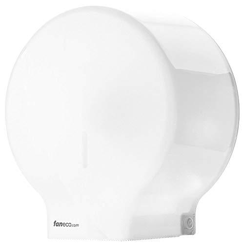 Toilettenpapierhalter ECO von Faneco   Wand-Toilettenpapierspender   Kunststoff ABS - weiß   Universeller Toilettenpapierhalter für öffentliche Toiletten Toilettenpapierspender für gewerbliche Zwecke