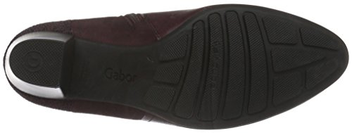 Gabor Comfort Basic, Bottes Classiques Femme Rouge (Dark-Merlot Micro)
