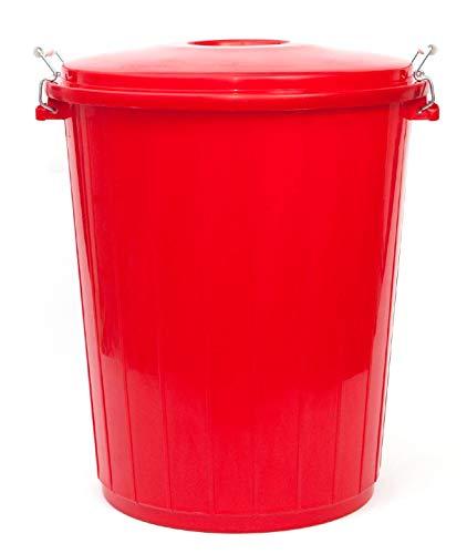 PAMEX - Cubo de Basura 50L Colores Rojo