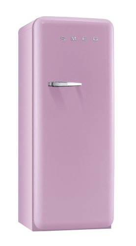 Smeg FAB28RRO1 Standkühlschrank / A++ / 248 L / Rosa / mit integriertem Gefrierteil / Rechtsanschlag