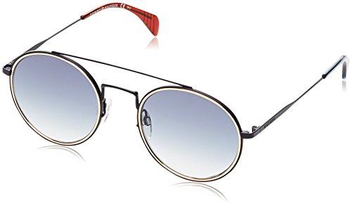 Tommy hilfiger th 1455/s 08 bqz 53, occhiali da sole unisex-adulto, blu (matt dk bluee sf)