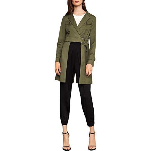 BCBG Max Azria Womens Convertible Open Panel Jacket Green XXS Convertible Puffer Jacket