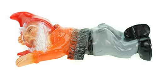 Gartenzwerg überfahren aus bruchfestem PVC Zwerg Made in Germany Figur - 3