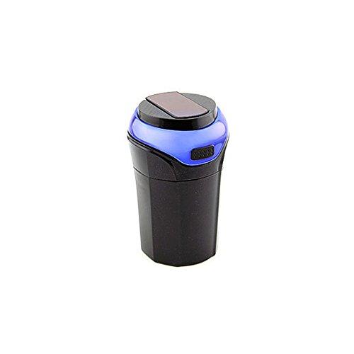 Hzjundasi Tragbar Reise Zigarette LED Licht Tasse Halter Zylinder Aschenbecher für Auto Rauch
