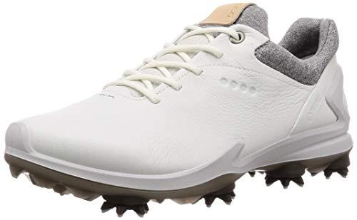 Ecco Golf 2019 Biom G3 Gore-Tex-Wasserdichte Yak-Leder-Herren-Golfschuhe mit Spikes [Shadow White, EU 43= 8.5-9UK] Gore Tex Golf