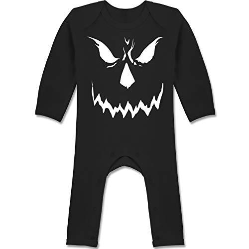 Shirtracer Anlässe Baby - Scary Smile Halloween Kostüm - 12-18 Monate - Schwarz - BZ13 - Baby-Body Langarm für Jungen und Mädchen (Scary Baby Ideen Halloween-kostüm)