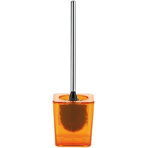 kela 21863 Set WC Kristall en Plastique Orange, 11,5 x 11,5 x 46 cm