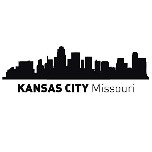 Kansas City Missouri Skyline City Silhouette Wand Vinyl Aufkleber Aufkleber Home Decor Art Wandbild Z492 (City Kansas Tragen)