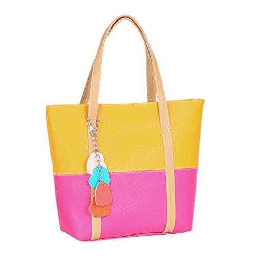 Minshao 2019 Mode Frauen Mädchen Handtasche Schultertasche Candy Farbe Fransen Herz Totes Umhängetasche