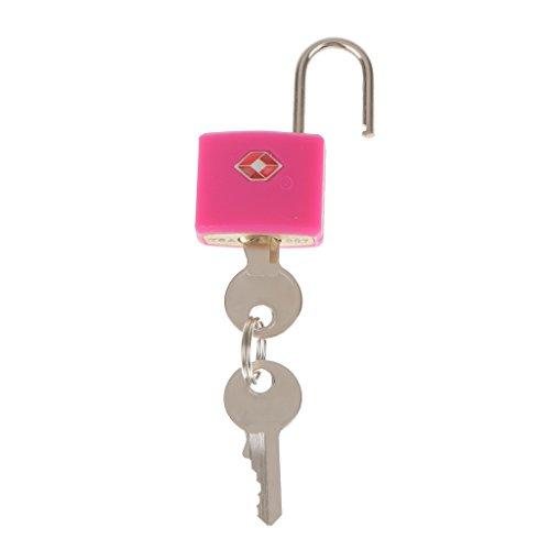 FLAMEER 2 Keys Starkes Zink Legierung Vorhängeschloss Für Zuhause Schule Reise Sport Gym Locker Sicher - Rot -