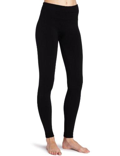 K. Bell Socks Women's Fleece Lined Legging, Black, Small/Medium