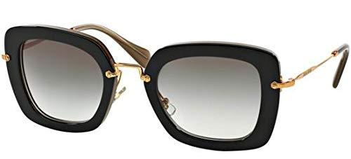 Miu Miu Damen MU07OS Sonnenbrille, Schwarz (Black KAY0A7), One size (Herstellergröße: 52)