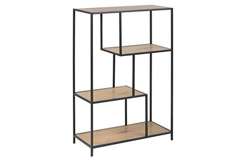 AC Design Furniture Regal Jörn, B: 77 x T:35 x H: 114 cm, MDF, Braun -