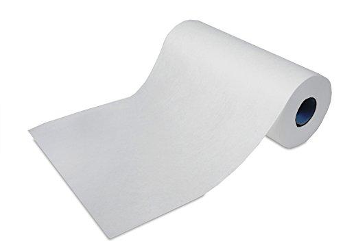 ROGGE Microfaser Rolle, 170x Microfasertücher mit Perforation Einweg. Einzel Tuchmaß: 35x22cm, weiß (- Einzel 35)