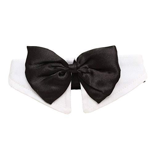 WILRND Einzigartige einstellbare Hund Haustier Fliege Kragen Hochzeit Smoking Kostüm Krawatte schwarz-weiß XL (Einzigartige Kostüm Für Hunde)