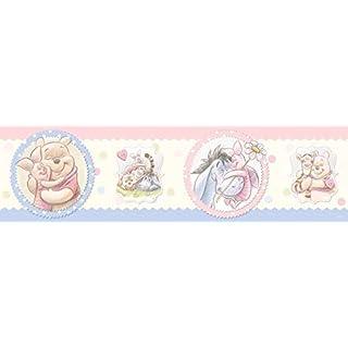 AG Design Disney Winnie Puuh Wand Sticker, Selbstklebende Folie, Mehrfarbig 500 x 14 cm