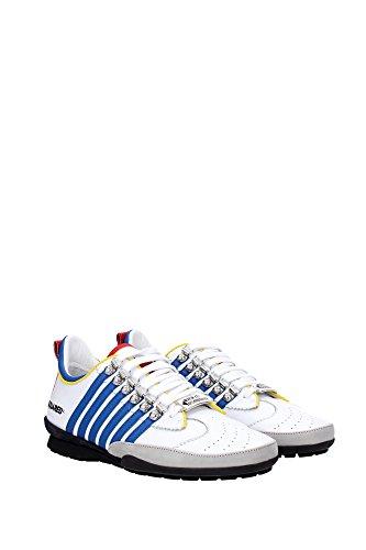 Dsquared2 chaussures baskets sneakers homme en cuir 251 blanc Multicouleur