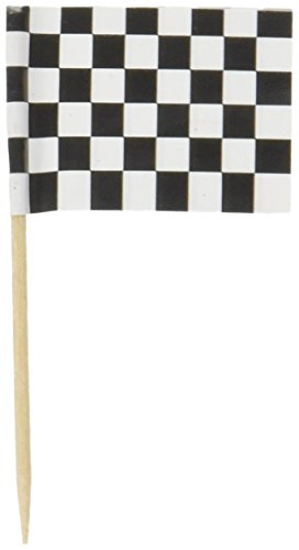 beistle-60104-50-pack-checkered-flag-picks-21-2-inch