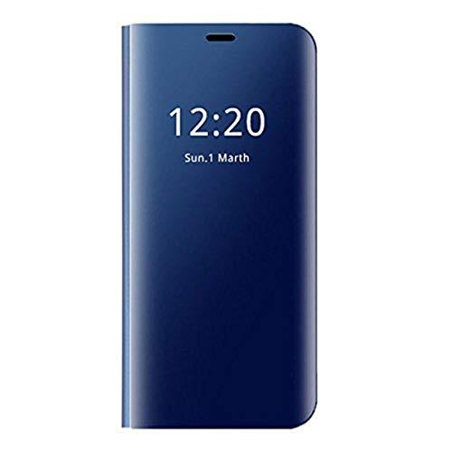 Zater Compatible with Huawei P20 Pro Hülle, P20 SchutzHülle Flip smart View Handy Case mit Standfunktion Card HandyHülle für  Huawei P20 lite (Blau, Huawei P20)
