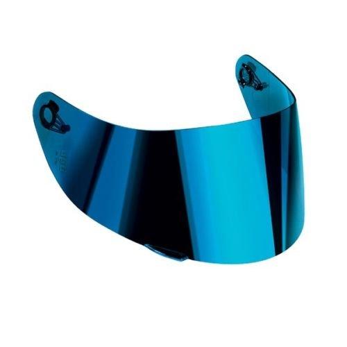 AGV - Visera de espejo azul para casco K5, K3-SV, S-4, SV, Horizon Skyline GT2 AS