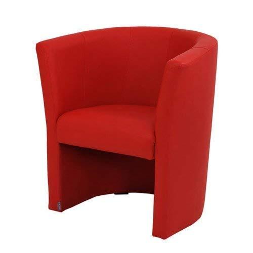 FORTISLINE TOP Sessel Clubsessel Loungesessel Cocktailsessel Kunstleder Rot W042 03