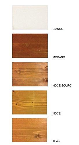Pergola addossata 3x2 in legno lamellare impregnato in autoclave ...