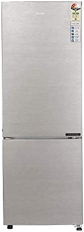 Haier 256 L 3 Star Inverter Frost-Free Double Door Refrigerator (HEB-25TDS-E, Dazzle Steel, Convertible)