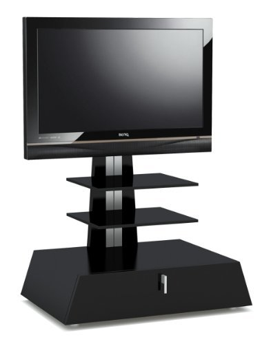 High Gloss Black TV Stand For Up To 42 inch TVs