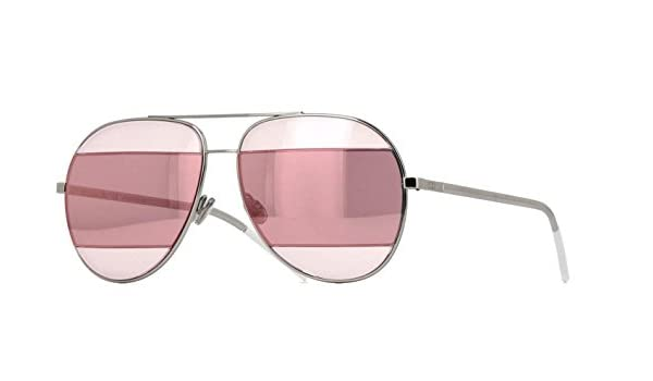 d3b496ef89e4 New Christian Dior SPLIT 2 010 0J Gold Grey Pink Rose Gold avitor sunglasses   Amazon.co.uk  Clothing