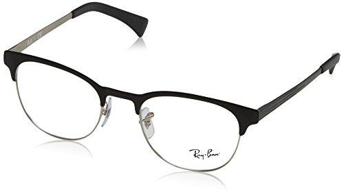 Ray-Ban Unisex-Erwachsene Brillengestell 0rx 6317 2832 51, Schwarz (Top Black On Matte Silver)