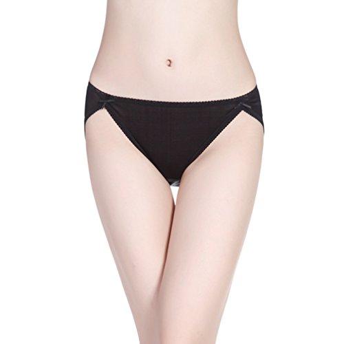 Hoerev Frauen reine natürliche Maulbeer Seide Unterwäsche Komfort Höschen (Seide Für Höschen Frauen 100)