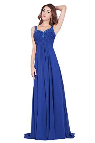 Victory Bridal Royal Blau Pailletten Abendkleider Ballkleider Damen Festlichekleider 2015 Neu Lang Hell Gruen