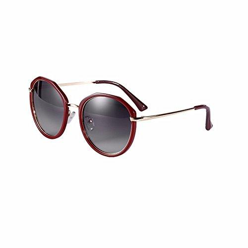 Weibliche Fahrer Fahren Bunte Sonnenbrille Polarisierte Sonnenbrille, Dunkles Rot, Schwarzer Asche (Dunkle Schwarze Sonnenbrille)