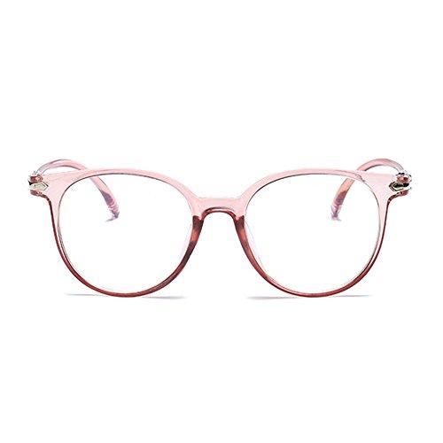 iCaptainAB'Eye Wayfarer Unisex Brillengestell mit transparenten Gläsern Rose