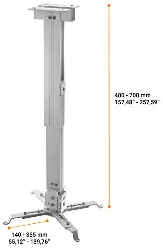celexon Beamer-Deckenhalterung universal in weiß   Tragkraft bis 25 kg - 2