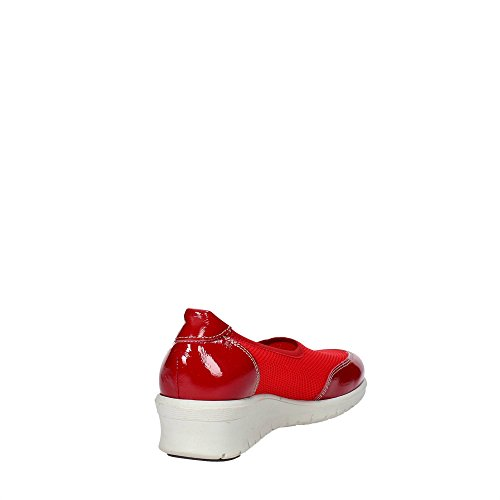 Cinzia Soft 9827 Sneakers Femme Cuir/nylon Rouge