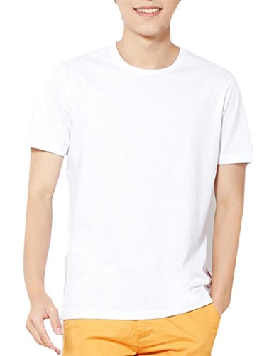 Short Sleeve Performance Raglan-t-shirt (CCK-UK-DE Men Basic Plain Crew Neck Short Sleeve T-Shirts White S)