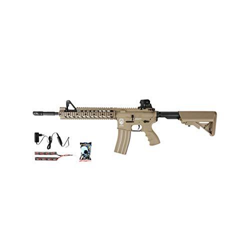 G & G GR15 RIS Raider XL BlowBack Komplettset AEG Softair 6mm BB Desert Tan -