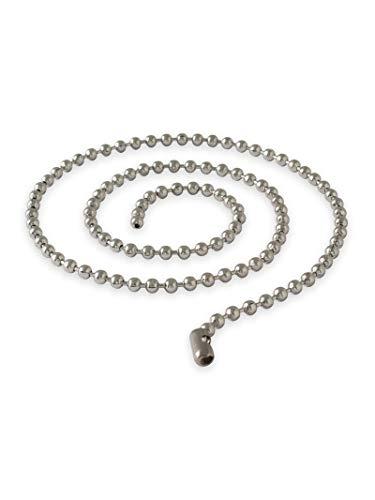 Fly Style Kugelkette Edelstahl Halskette für Anhänger Dog Tag Kette - alle Längen, Verschiedene Stärken, Längen:ca. 70.0 cm, Stärke:5 mm