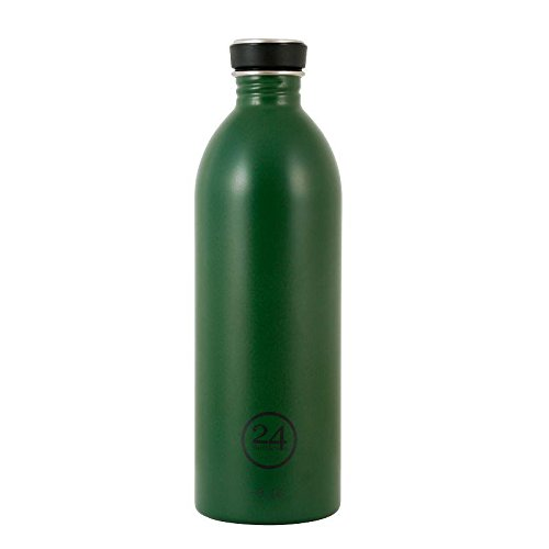 Preisvergleich Produktbild 24Bottles Urban Bottles Edelstahl Trinkflaschen Jungle green dunkelgrün 1 Liter