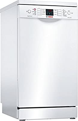 Bosch Serie 4 SPS46MW01E Independiente 10cubiertos A+ lavavajilla - Lavavajillas (Independiente, Blanco, Slimline (45 cm), Blanco, Botones, 1,75 m)