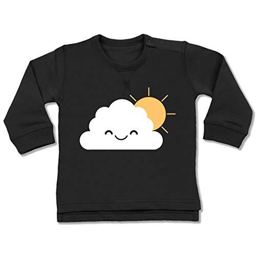 Sonnenschein Kostüm Baby - Shirtracer Karneval und Fasching Baby - Wolke Karneval Kostüm - 6-12 Monate - Schwarz - BZ31 - Baby Pullover