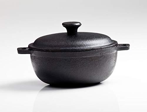 The Chef Collection – Cocotte o Cacerola con Tapa de Hierro Fundido de Alta Calidad. Colección Vulcano. 17,3x13,5x6cm