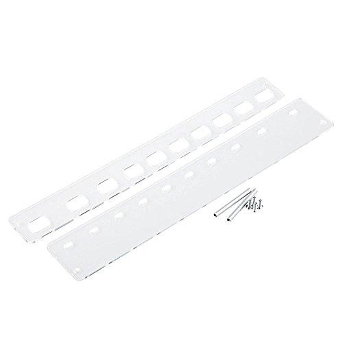HuntGold brosse à dents porte-pinceau de maquillage support présentoir rangement 10Grille - transparent