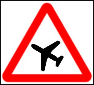 Low Flying Aircraft or Sudden Aircraft Noise, Road Traffic Signs, A2 (400 x 600mm) 5mm PVC